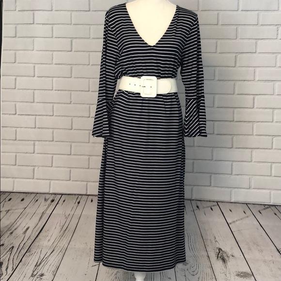 c92e212b6e1ee long tall sally Dresses   Skirts - LTS Navy   White Striped Dress Size 12